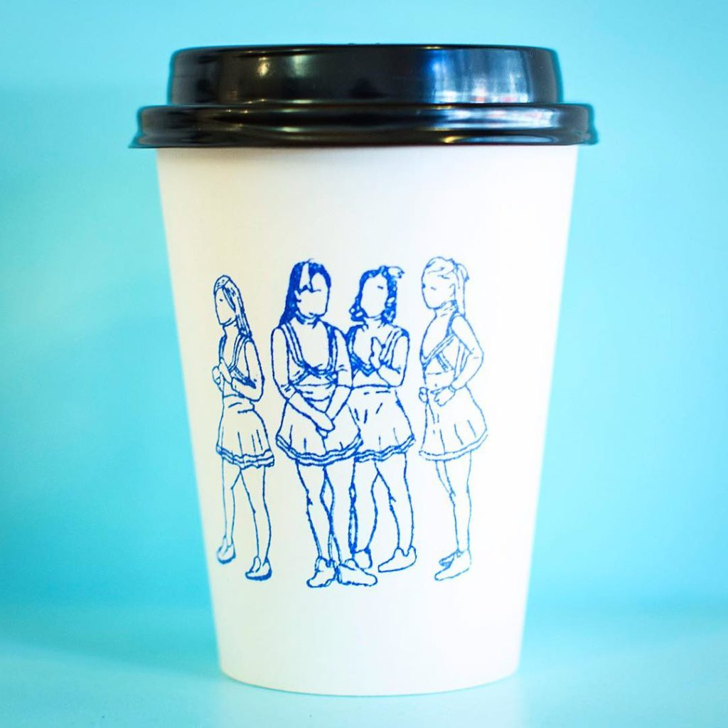12oz White Paper Cup Stamp Printed
