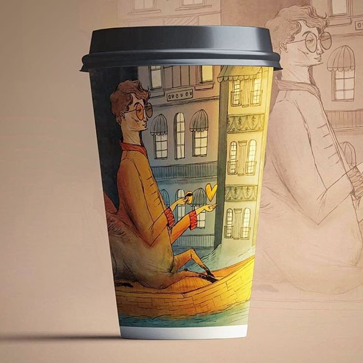 Full Color Digital Print Coffee Cups