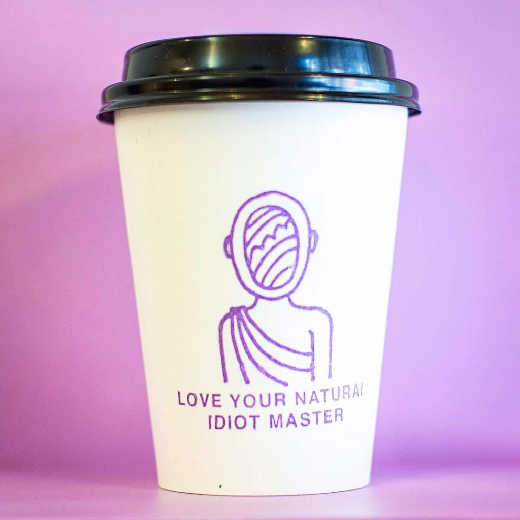 Love Your Natural Idiot Master Stamp Print 12oz Cup Design