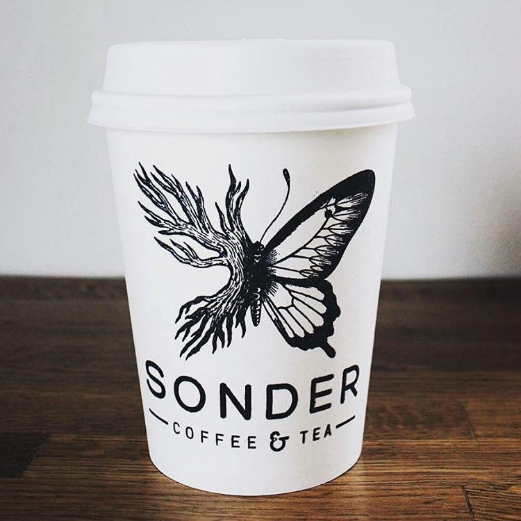SonderCoffeeTea Logo Branded Cofee Cup