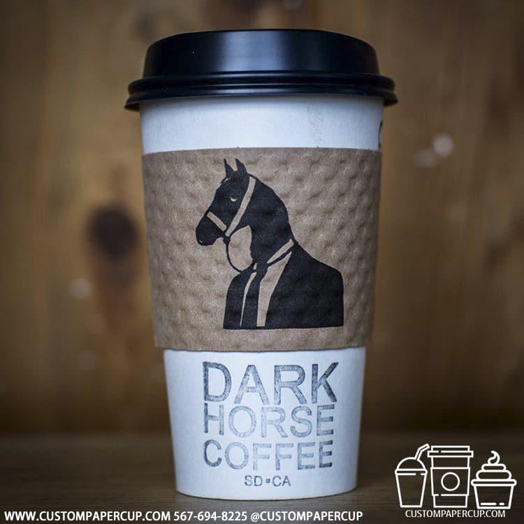darkhorsecoffee sleeved coffee cup