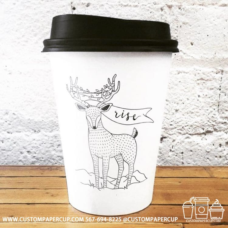 deer christmas rise festive coffee cup