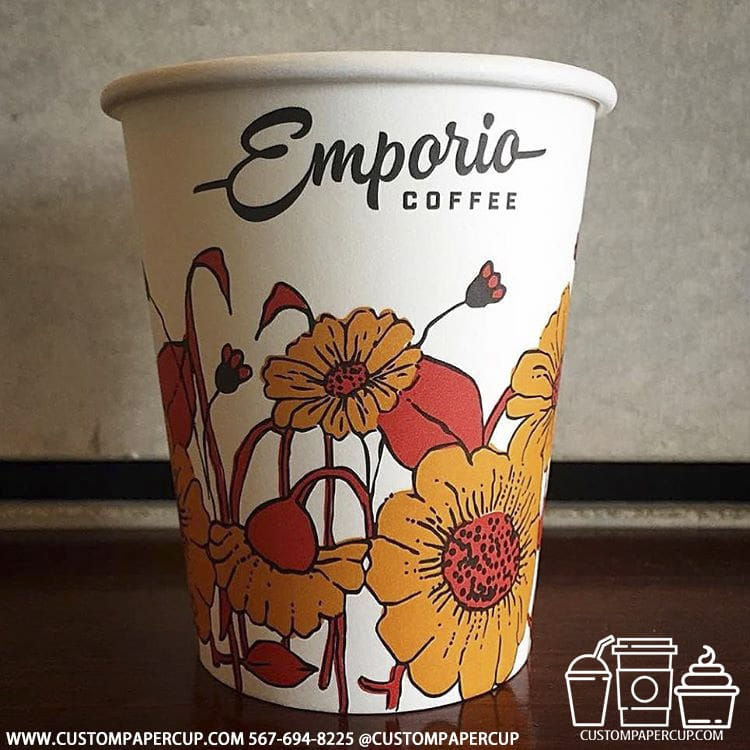 emporiacoffee flower yellow hot cup
