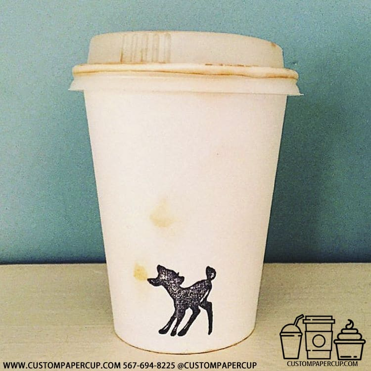 horse animal black white customized paper cup