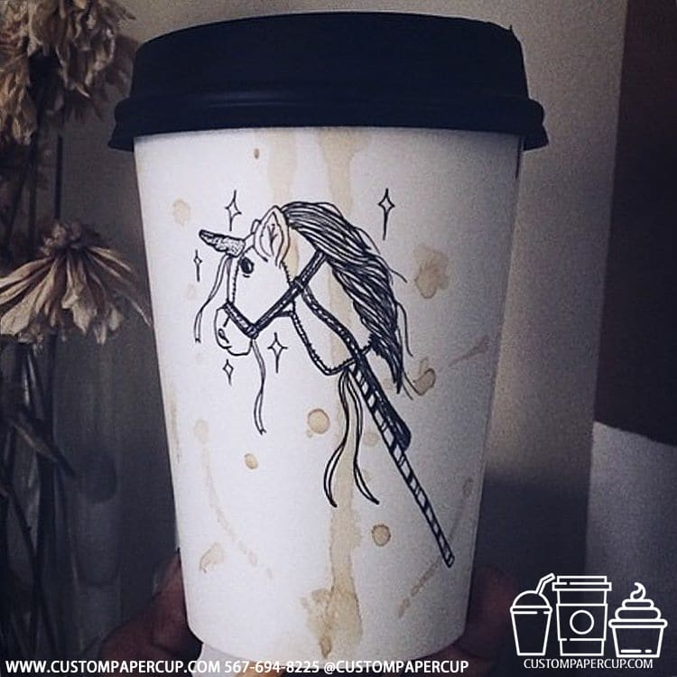 horse toy artificial custom coffee cup