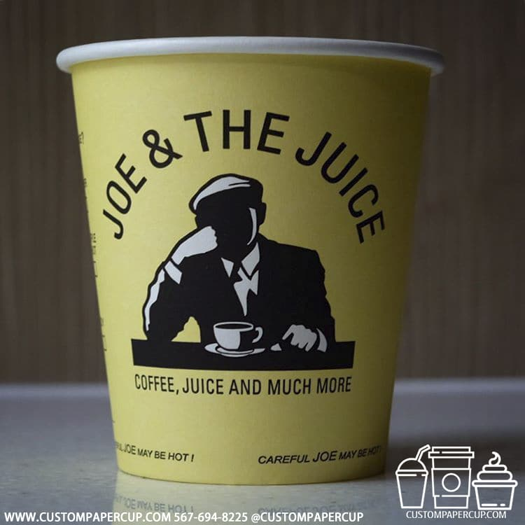 joethejuice man yellow paper cup
