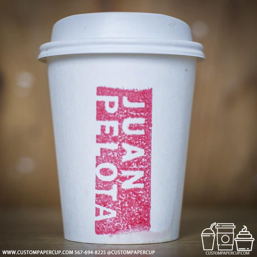juanpelota sign custom paper cup