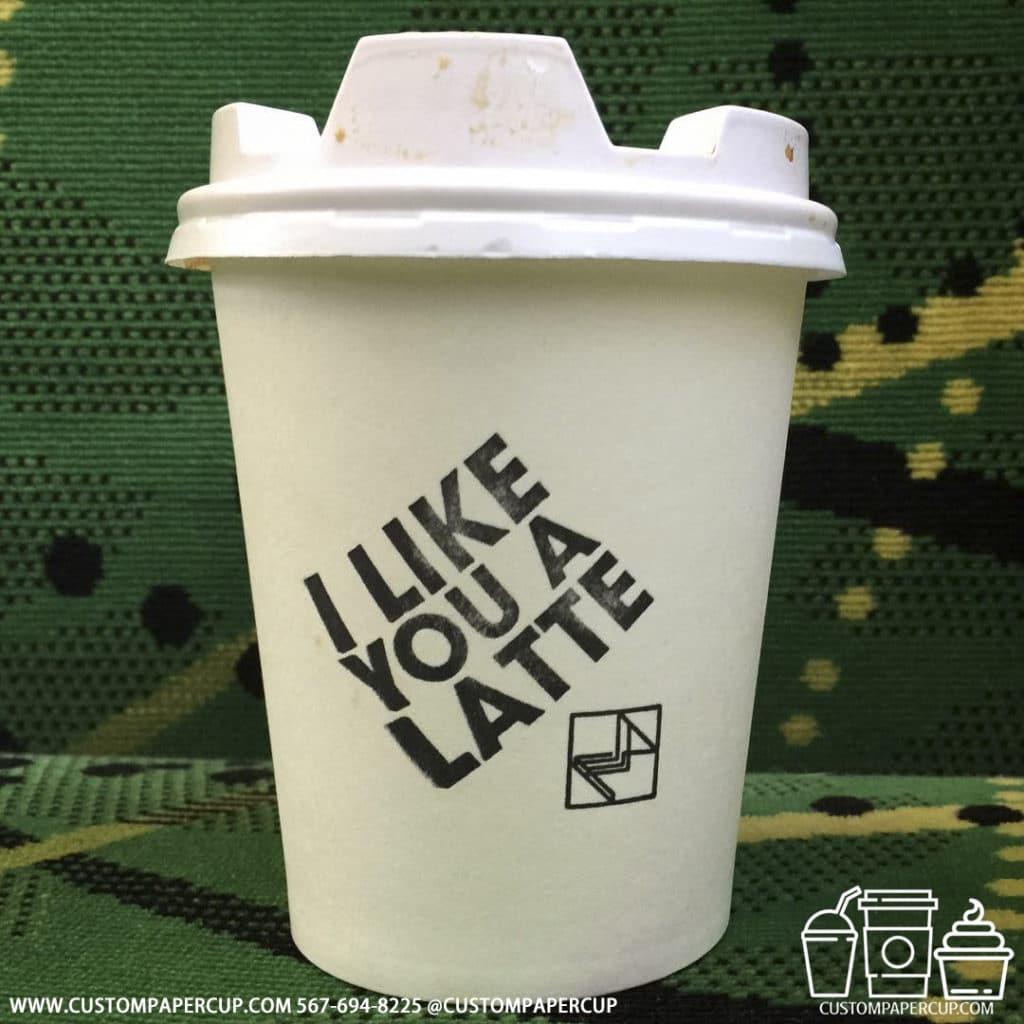 latte like quote custom coffee cup