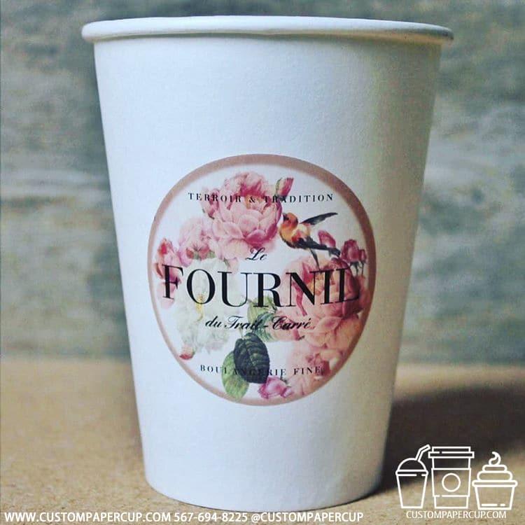lefournil flowers custom logo cup