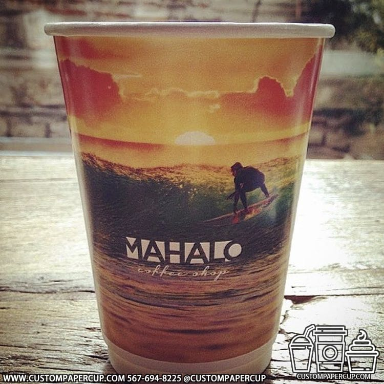 mahalocoffee sunset bright full wrap cup