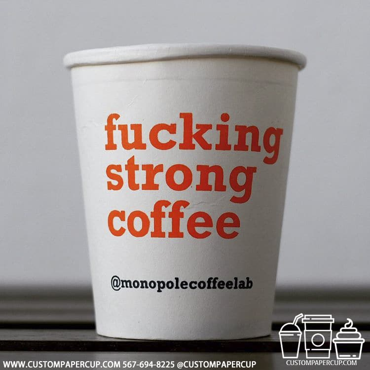 monopolecoffeelab fucking strong coffee cup