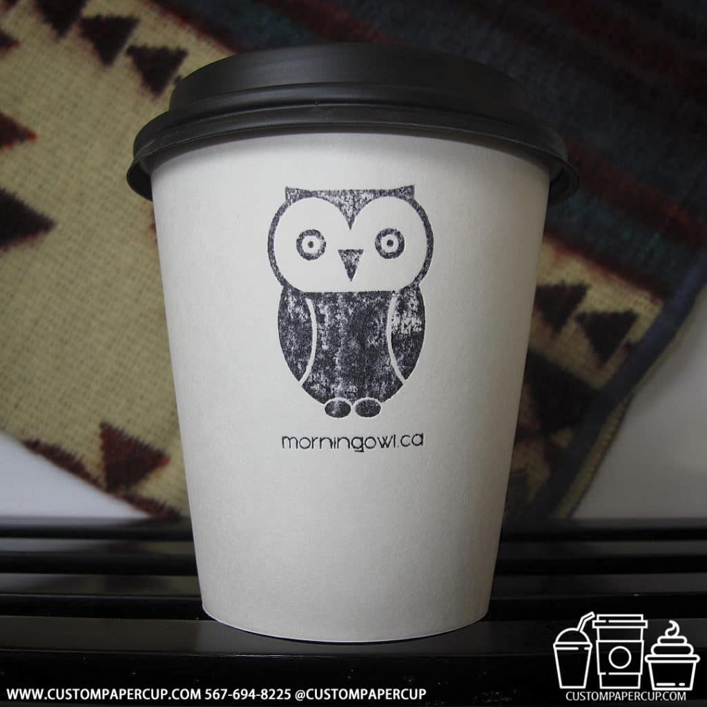 morningowl owl canadian custom coffee cup