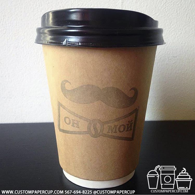 onmoi mustache double wall coffee cup