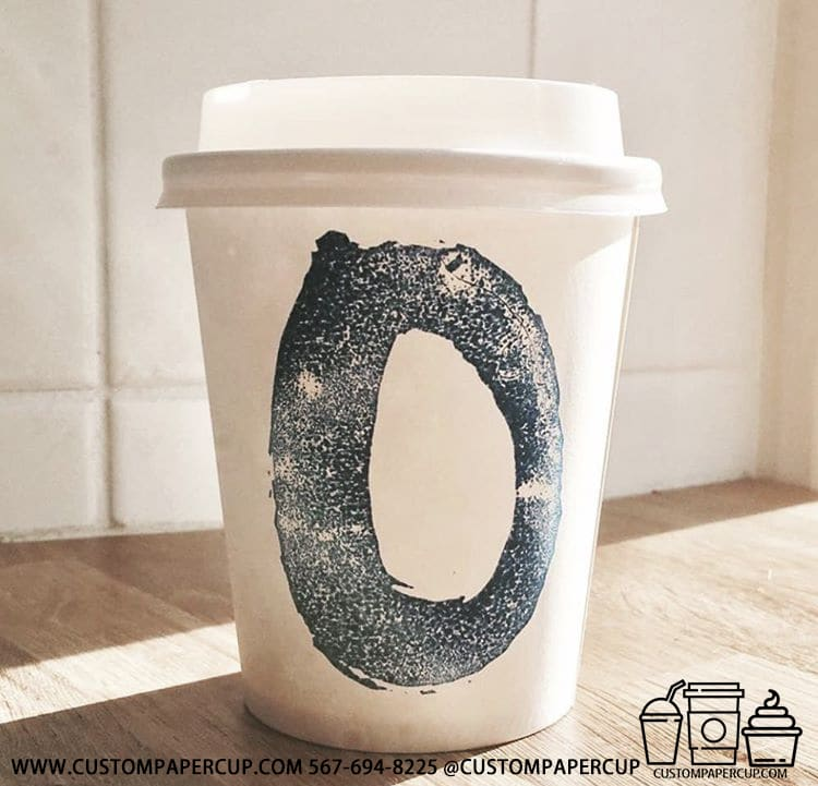 oval painted custom printed cup