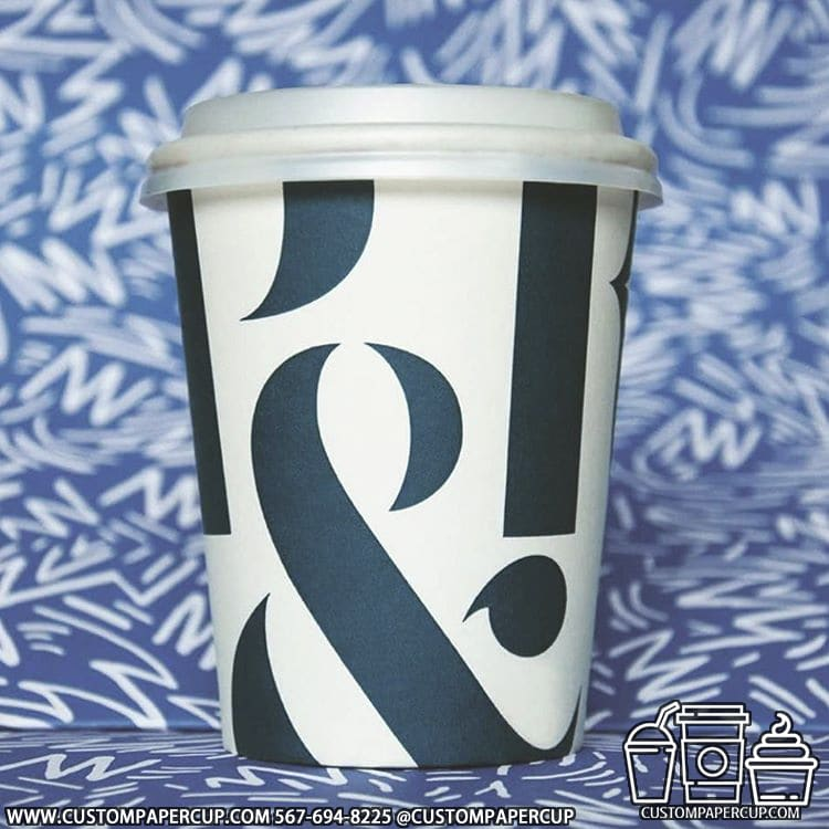pandr logo letter typed custom printed cup