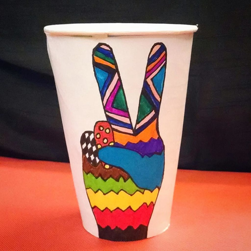 peacecoffee paper cup full color printing
