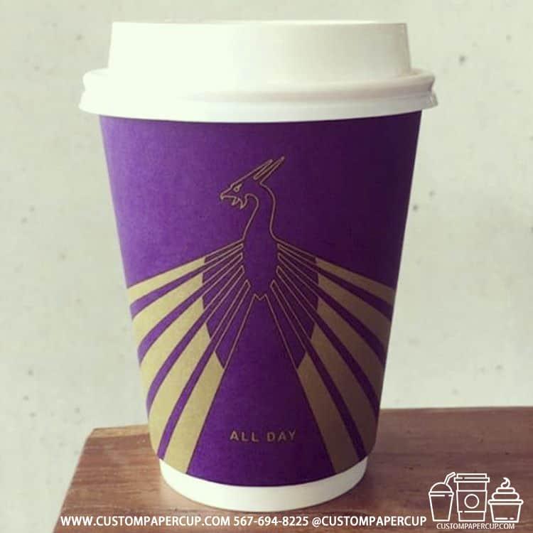 phoenix dragon all day coffee custom cup