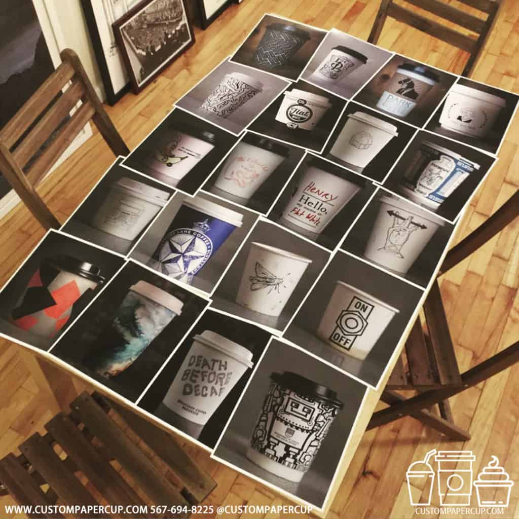 photo wall table collectable cup design