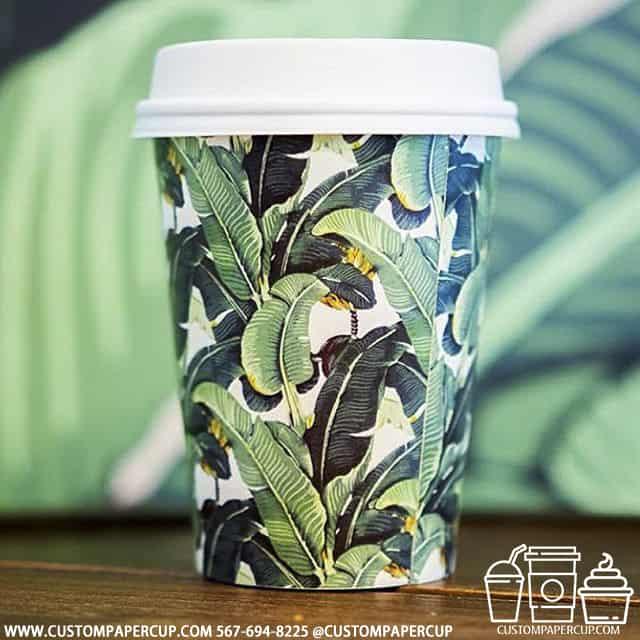 plants flora ecological full wrap custom cup
