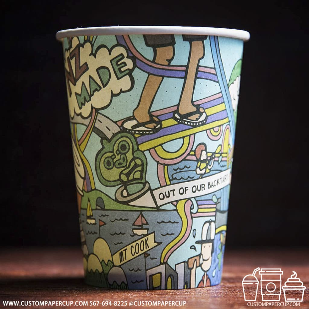 travel mixed colorful printed custom cup