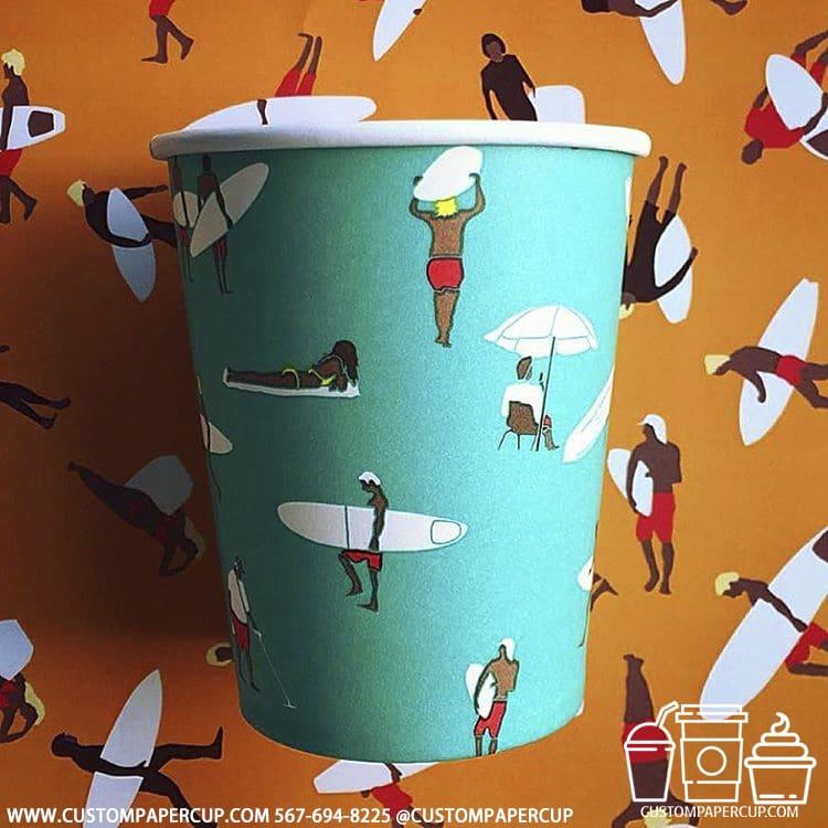wakeboard torquise custom printed cup