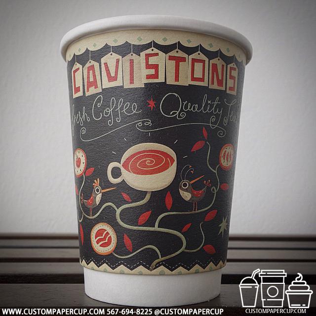 cavistonscoffee quality custom printed paper coffee cups