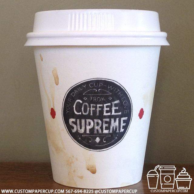 coffeesupreme custom printed paper coffee cups