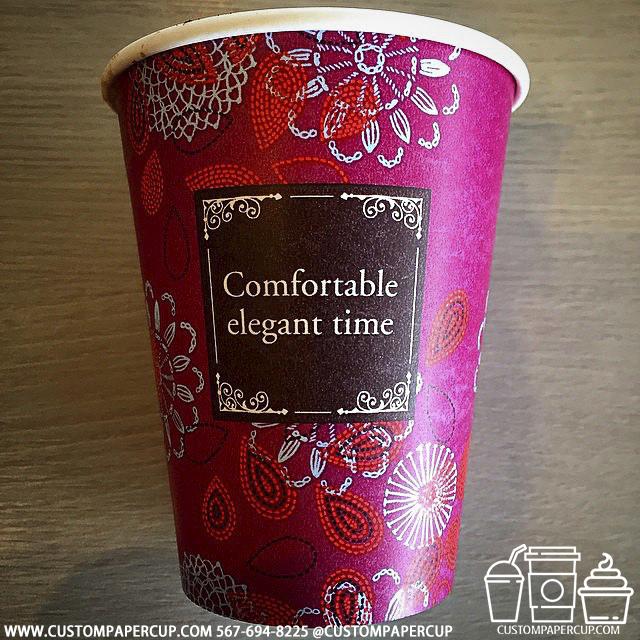 comfortable elegant time custom printed paper coffee cups