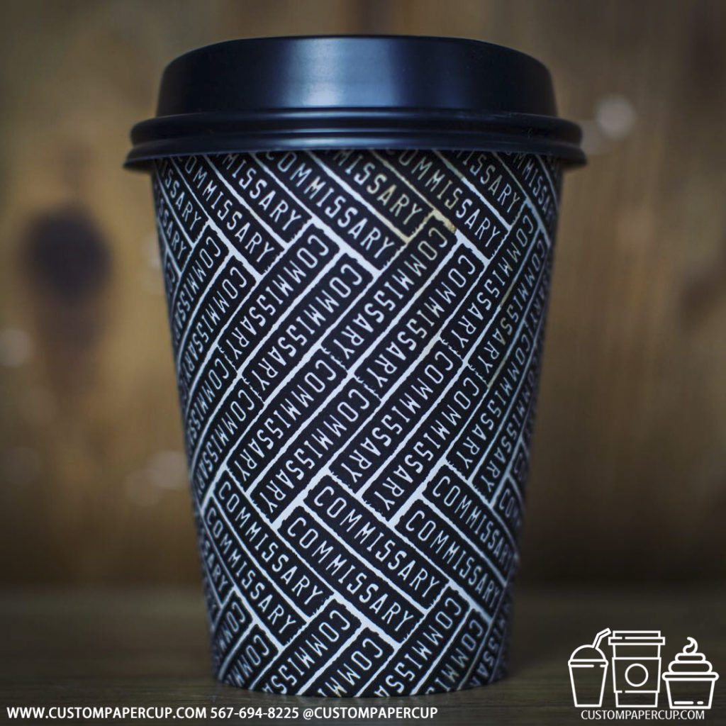 commissary mosaic logo printed cup