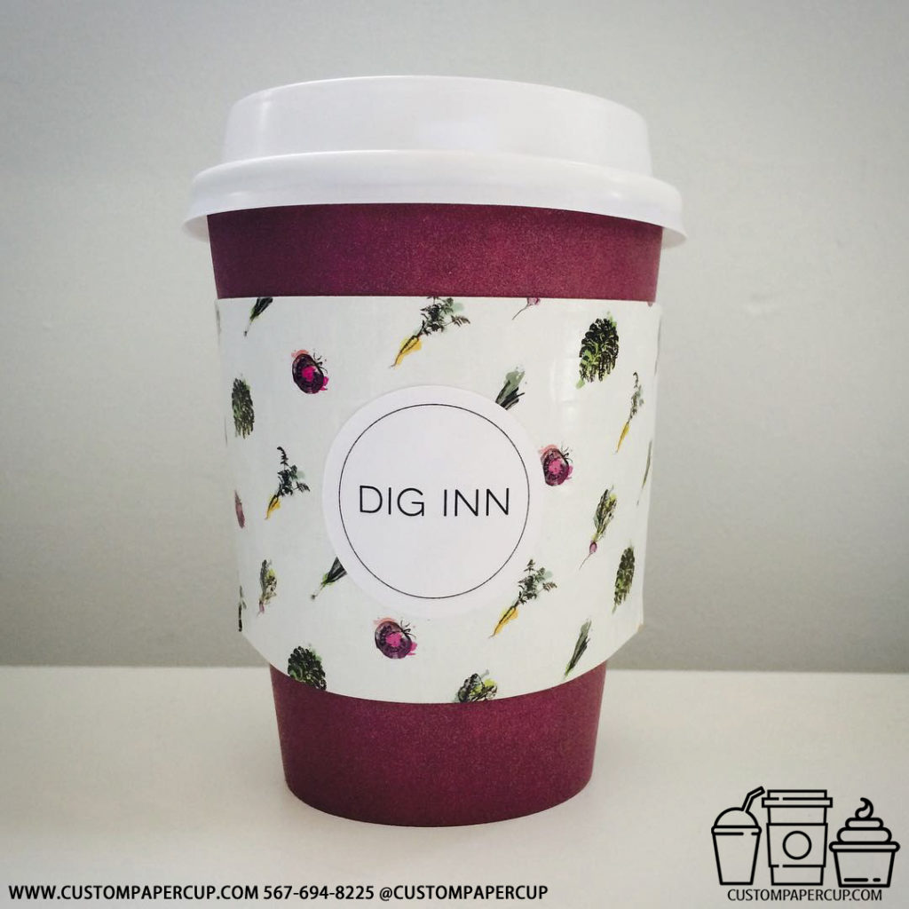 diginn sleeve carrot custom printed paper coffee cups