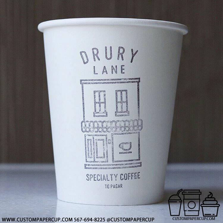 drurylane speciality logo house custom printed coffee cup