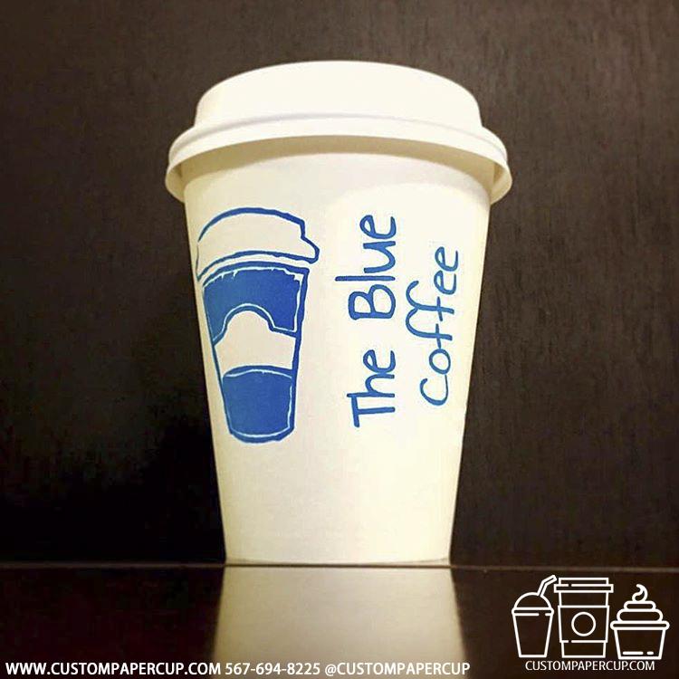 thebluecoffee custom printed paper coffee cups