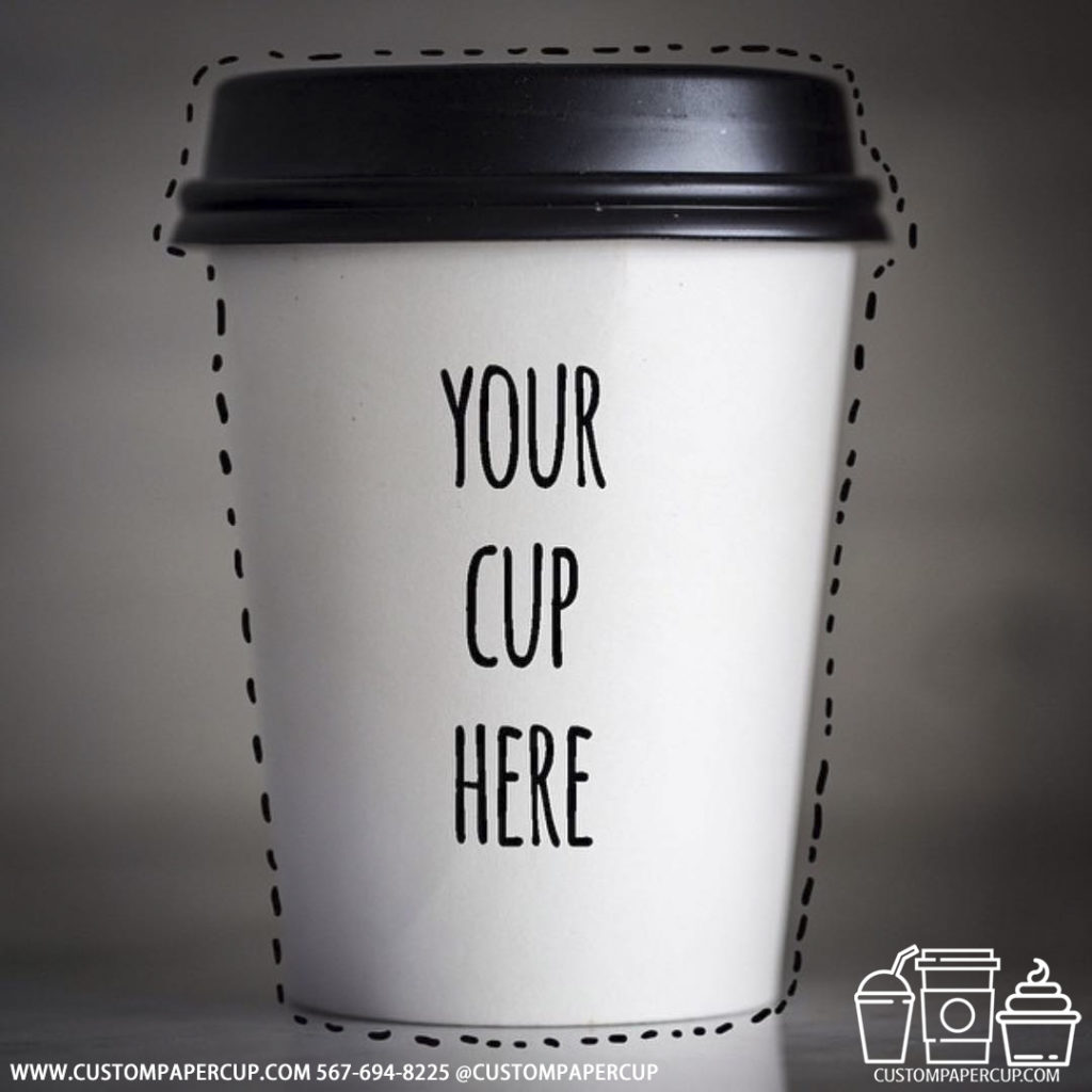 your cup custom printed paper coffee cups